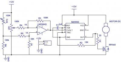 Схема шим регулятора оборотов на ne555